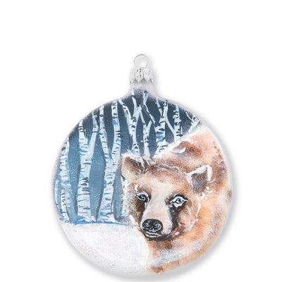 Ornaments Into The Woods Bear Disc Ornament