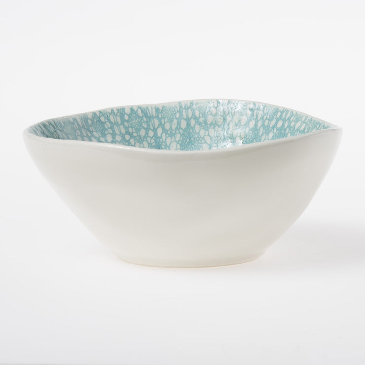 Lace Aqua Small Serving Bowl