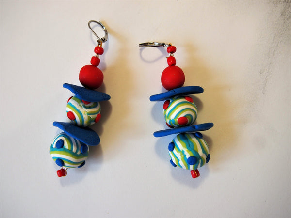 Blue Planet Earrings by Ellar Art Jewellery