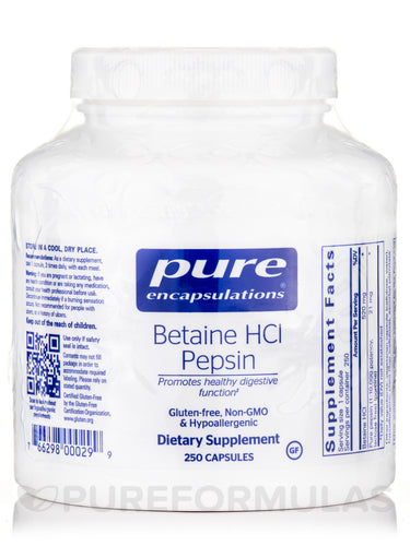 Betaine HCL Pepsin 250ct