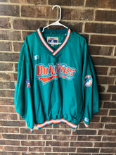 Load image into Gallery viewer, Dolphins Starter Windbreaker Crewneck