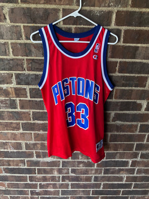 Grant Hill Champion Pistons Jersey