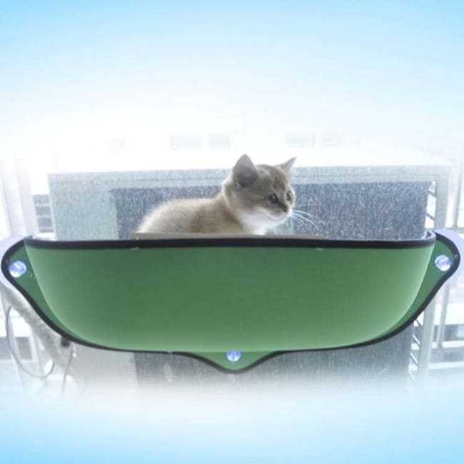 Cat Window Hammock - Green / 68 X 28 Cm