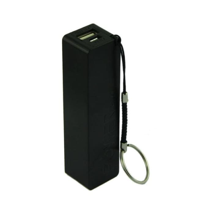 Portable Power Bank - External Backup Battery - Black