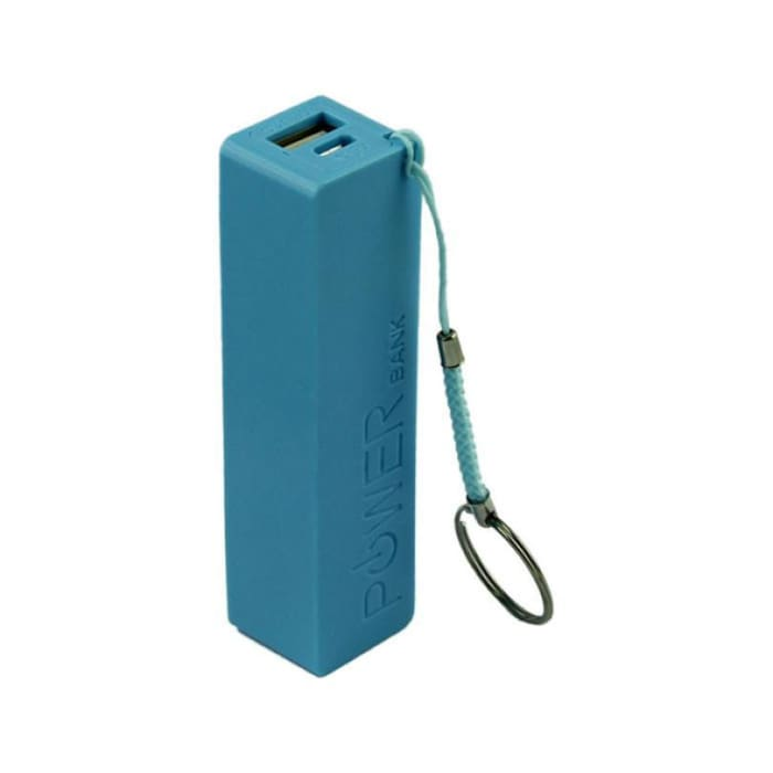 Portable Power Bank - External Backup Battery - Blue