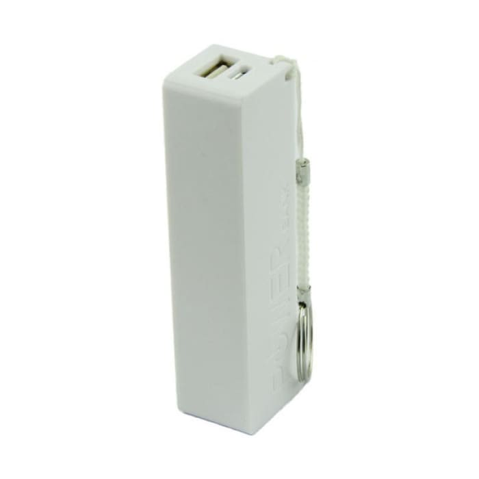 Portable Power Bank - External Backup Battery - White