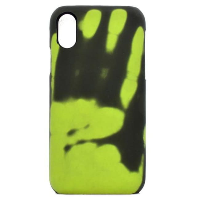 Thermal Heat Sensitive Phone Case - Green / Iphone X