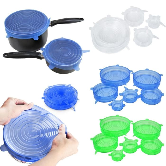 Universal Silicone Lids (6 Pieces/set)