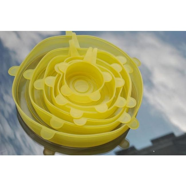 Universal Silicone Lids (6 Pieces/set) - Yellow