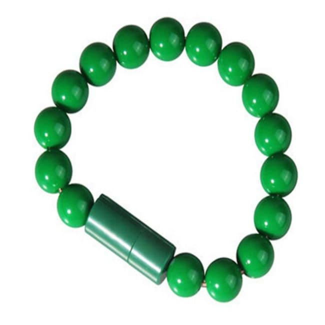 Usb Cable Pearl Bracelet - Green For Android