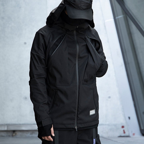 NEV Cyberpunk Waterproof Hooded Jacket