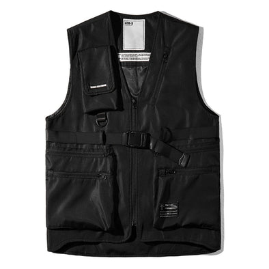 NEV Punk Combat Multi-pocket Ripstop Vest Jacket