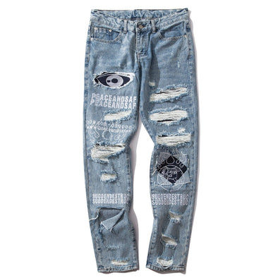 "NEV ""Fire Graffiti"" Jeans"