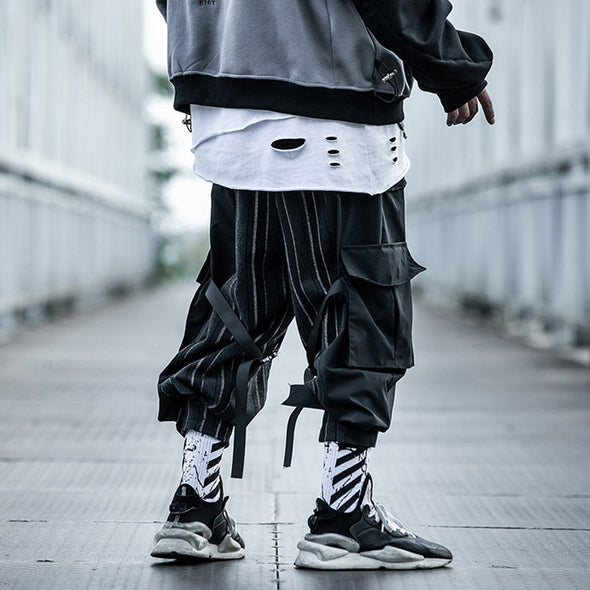 "NEV ""stripe ribbon"" cargo pants"