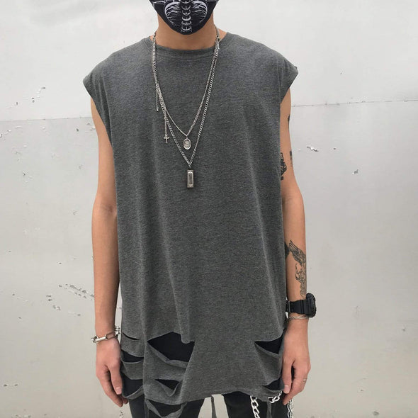 "NEV ""Broken Hole""Sleeveless Tee"