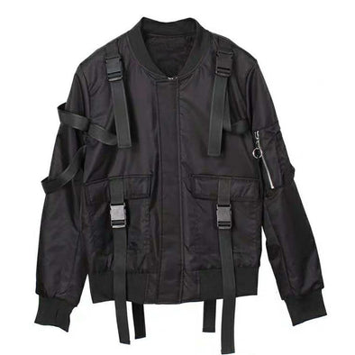 NEV Functional Ribbons Thick Bomber Jacket