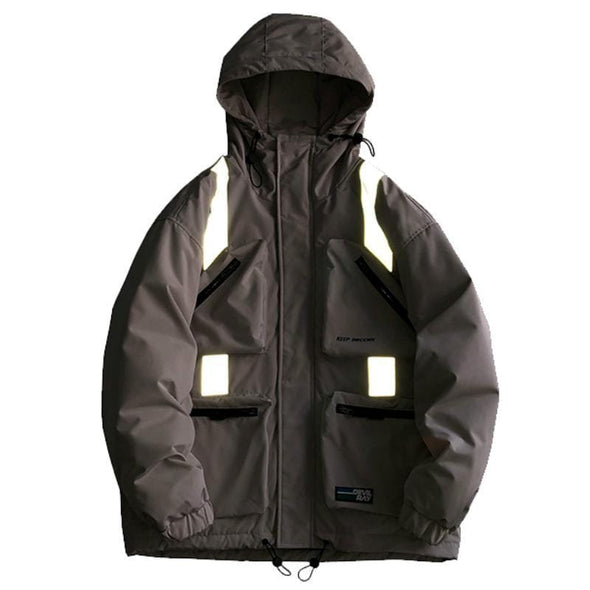 NEV Multi-pocket Reflective Down Jacket