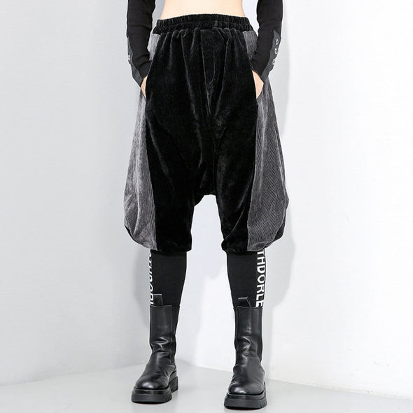 NEV Dark Patchwork Harem Pants