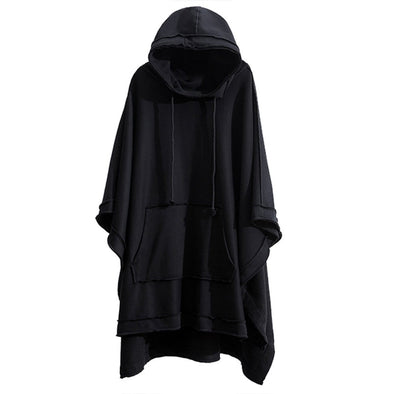 NEV Dark Bat Cloak Cape Wizard Hooded Coat