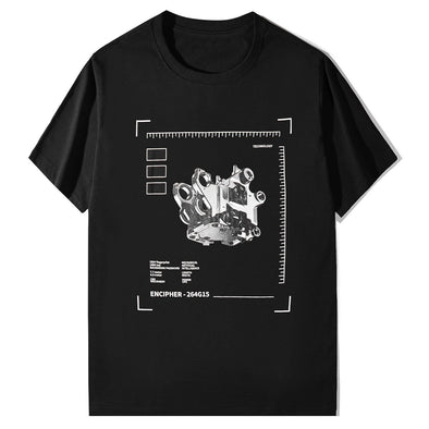 NEV Punk Mechanical Print Cotton Tee