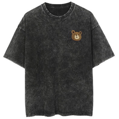 NEV Cute Bear Print Washed Tee
