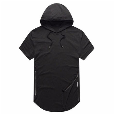 NEV Function Side Zipper Hooded Tee