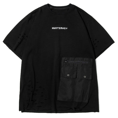 NEV Function Patchwork Pockets Tee