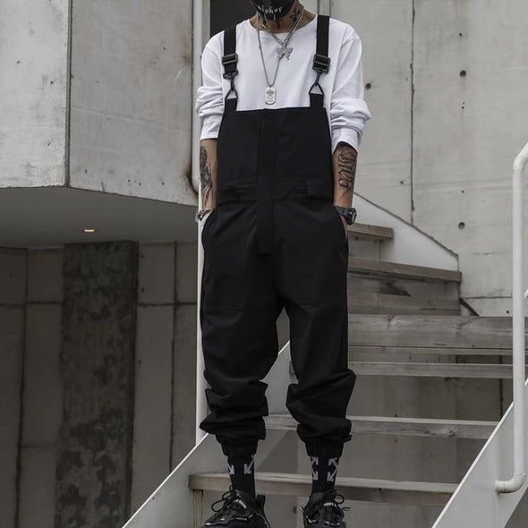 NEV Dark Creative Belt Overalls