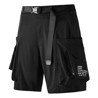 NEV Dark Functional Big Pockets Nylon Shorts