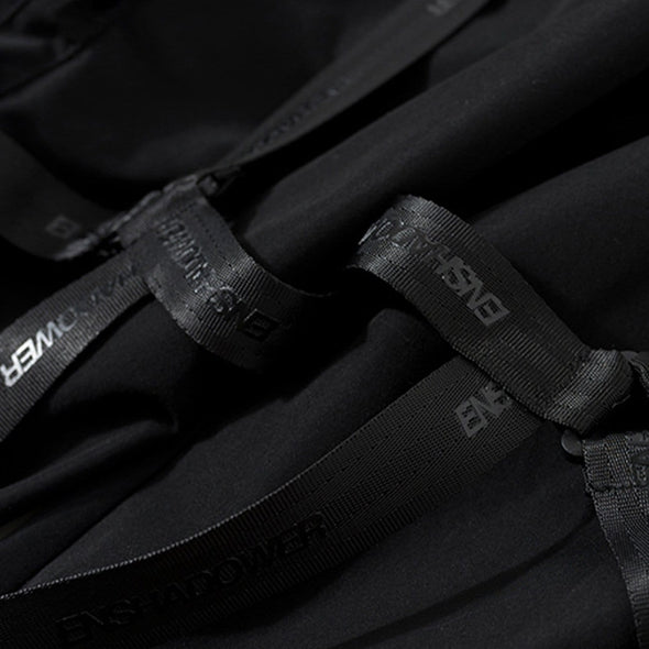 NEV Combat Zipper Pockets Ribbons Cargo Pants
