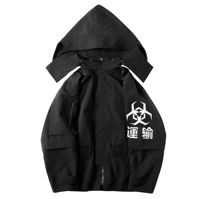 NEV Funeral Function Detachable Wizard Hooded Jacket