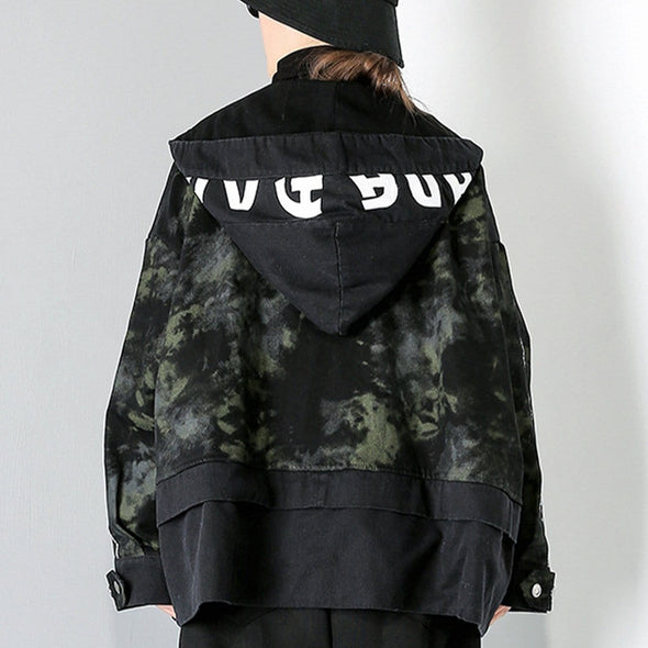 NEV Camouflage Patchwork Oversize Winter Coat