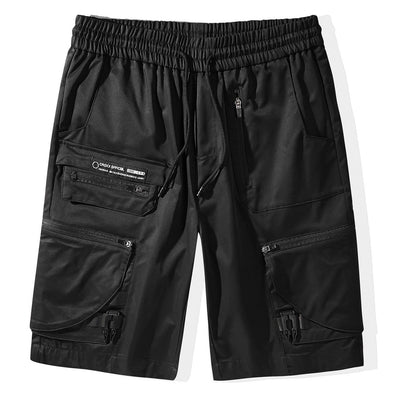 NEV Dark Functional Zipper Pockets Nylon Shorts