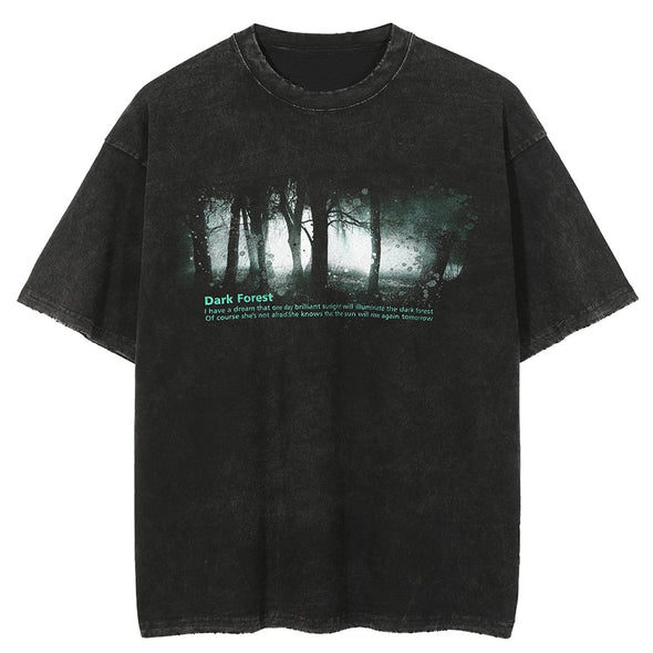 NEV Dark Forest Print Washed Tee