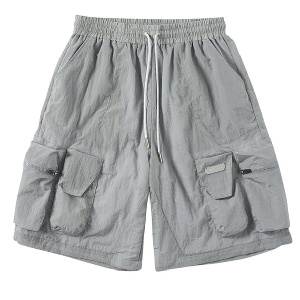 NEV Punk Multi Pockets Straight Shorts