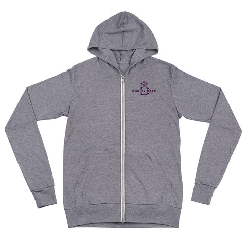 Will Code For Equity: Unisex Zip Hoodie