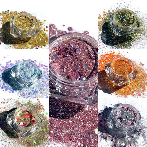 Glitter Collage - Holographic Rainbow Loose Glitter Eyeshadow