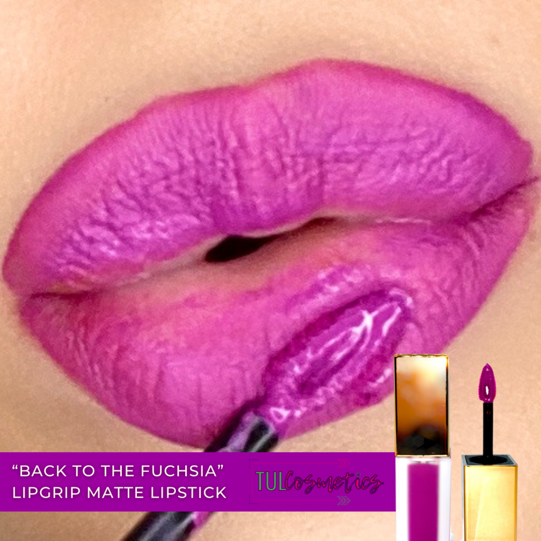 Back To The Fuchsia LIPGRIP Matte Lipstick - Lipgloss lipstick eyeshadow glitter blush highlighter foundation