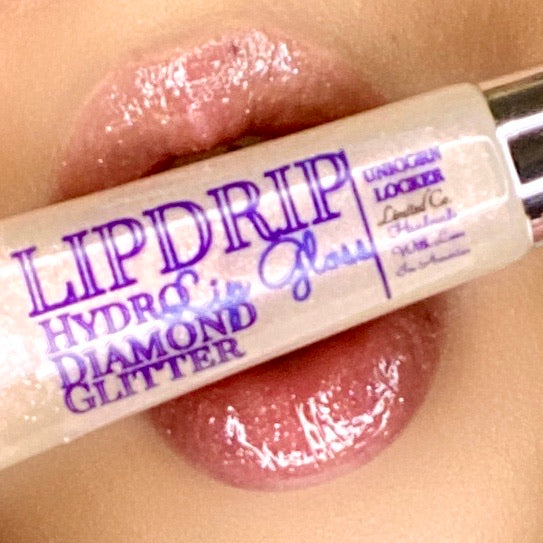 Champaign Rose LIPDRIP Diamond Lip Gloss - Lipgloss lipstick eyeshadow glitter blush highlighter foundation