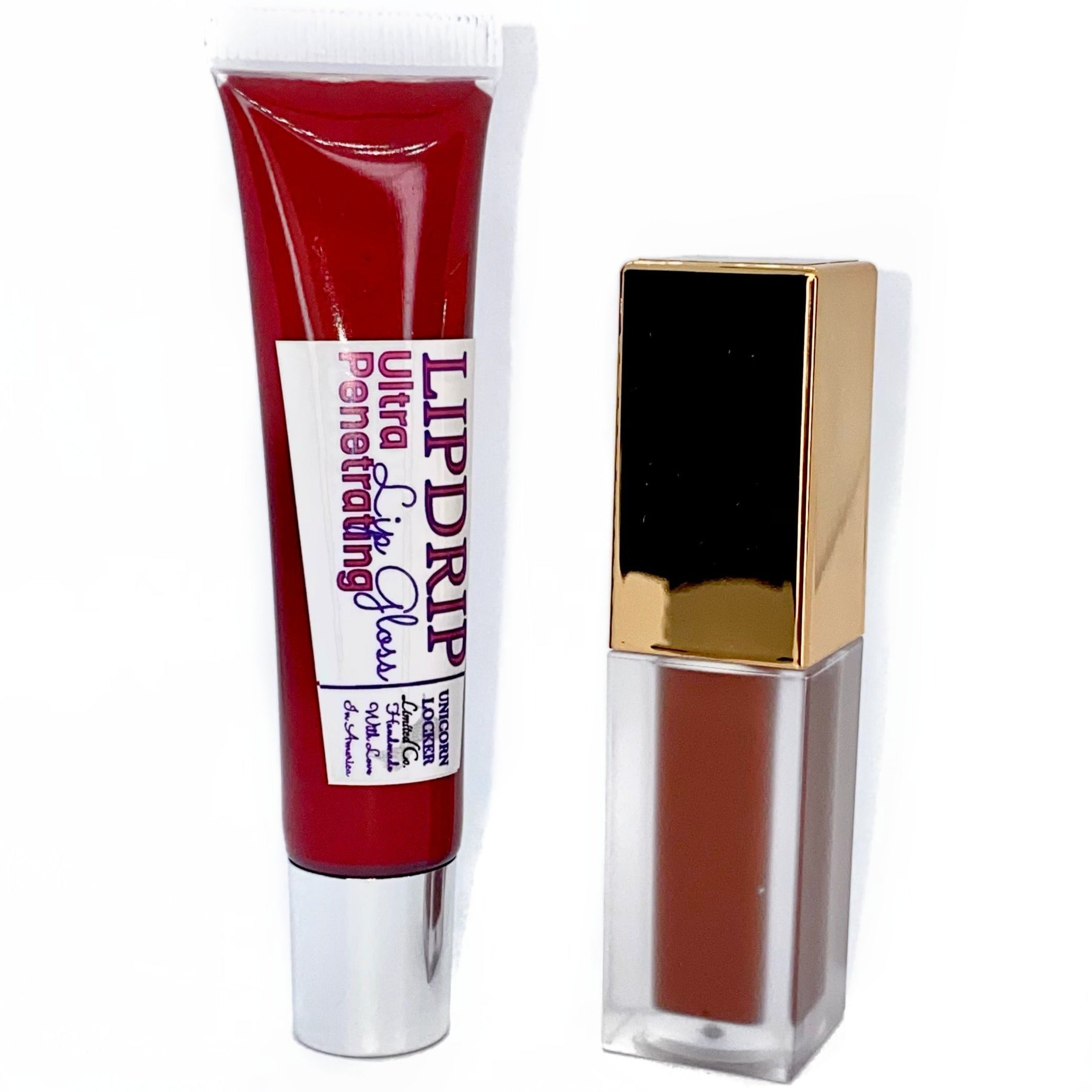 Holiday Lipkit Duo (Hot Chocolate) - Lipgloss lipstick eyeshadow glitter blush highlighter foundation