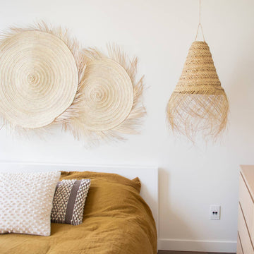 Soleil Fringe Straw Wall Decor in Large