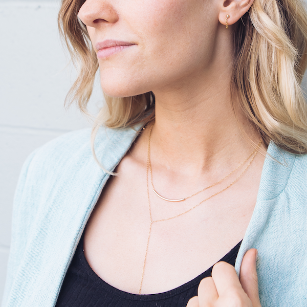 The Aria Y-Necklace in Recycled 14k Gold Fill