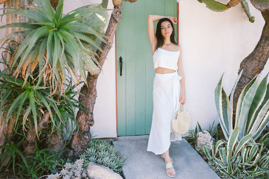 The Duru Wrap Skirt in White