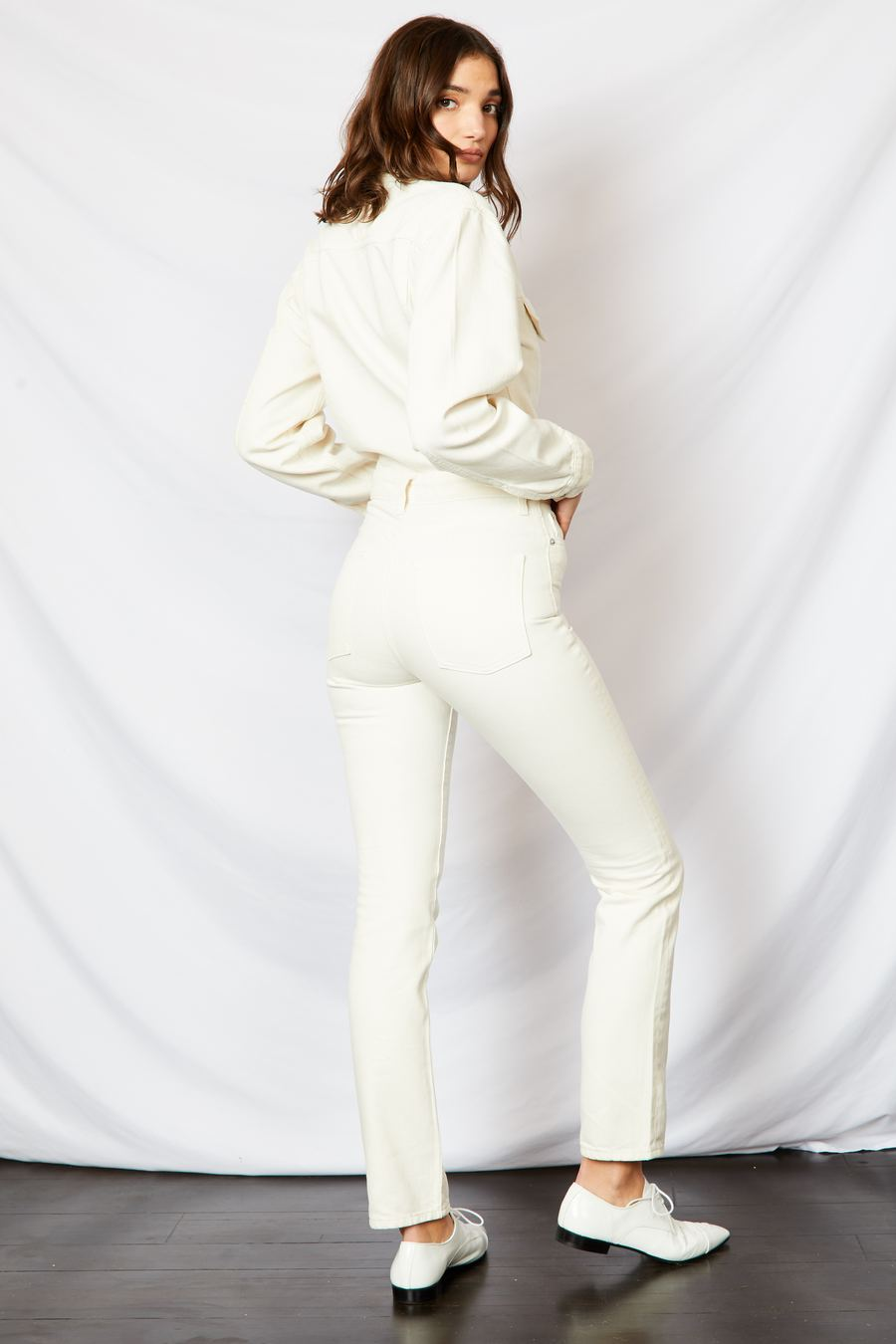 The Cara Coverall Jumpsuit in Cream