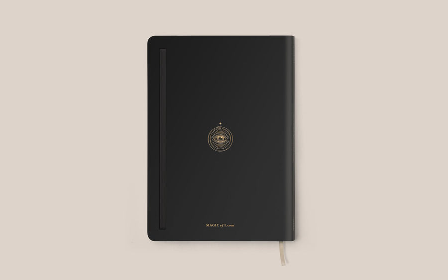 The Vegan Leather Lined Journal in Black