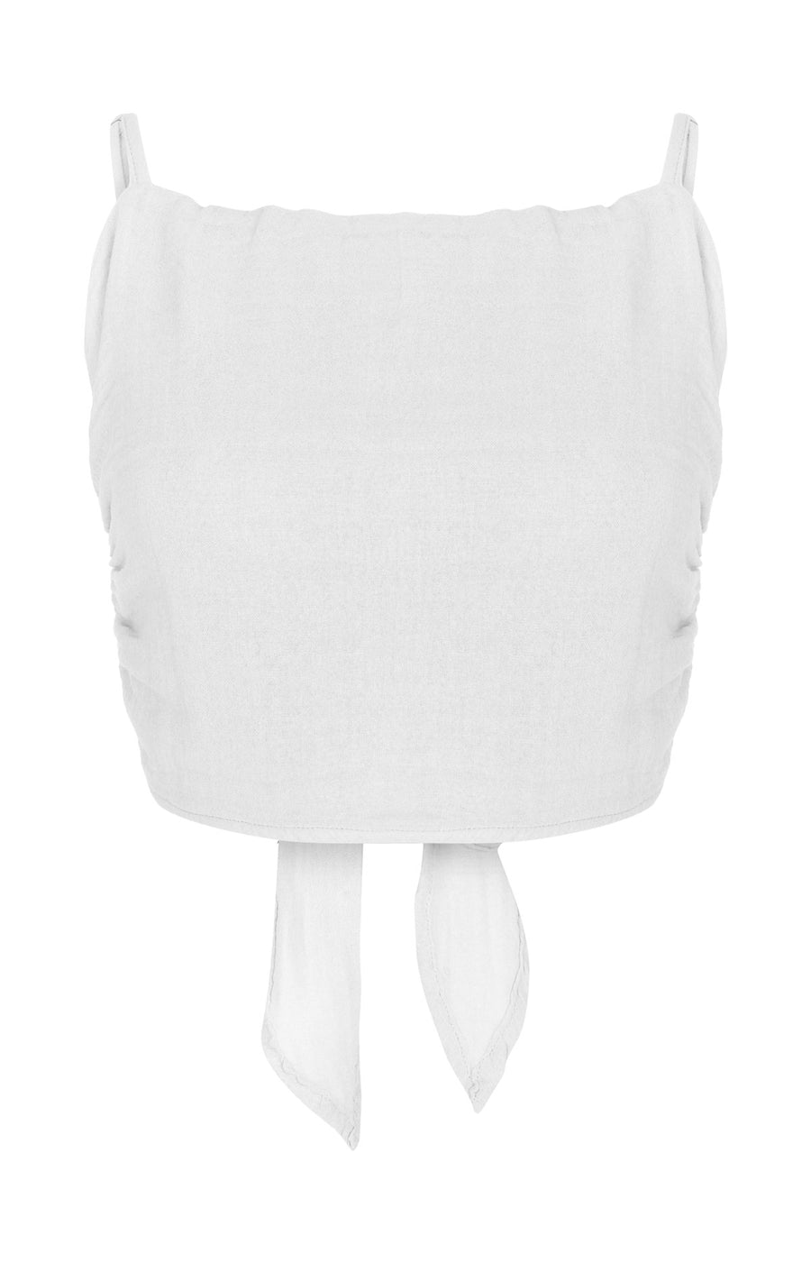 The Maya Tie Top in White