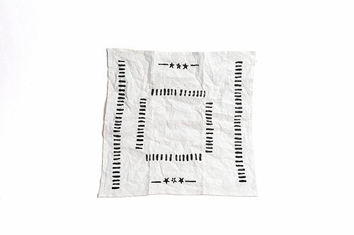 Three Star Studio Bandana in White