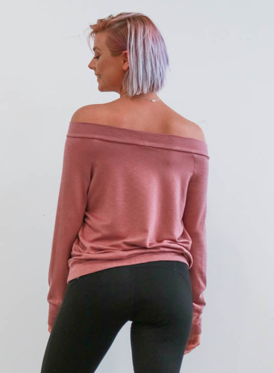 Ashland Drop Shoulder Sweater in Charcoal
