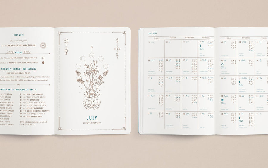 The 2021 Astrological Planner in White