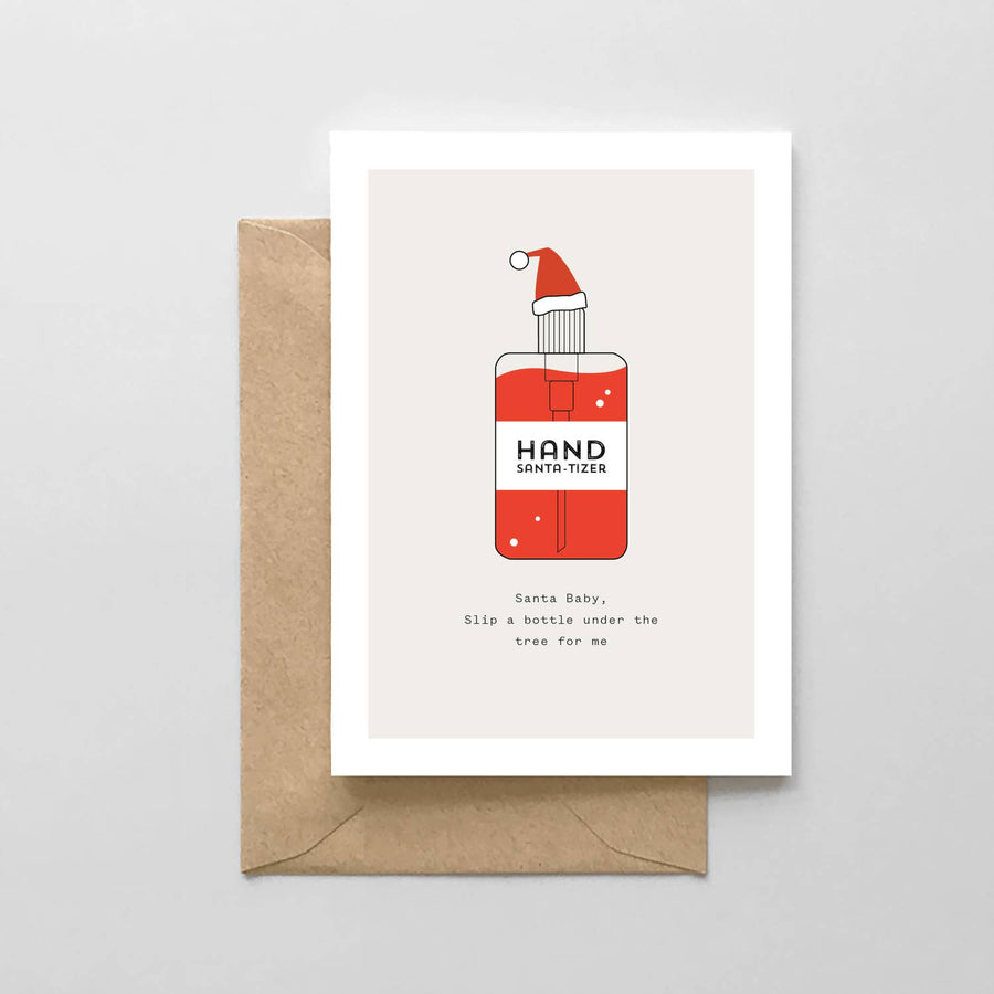 The Hand SANTA-tizer Pandemic Holiday Card
